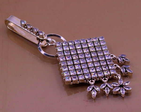 Tribal Face Sterling Silver Key Chain