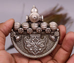 Handmade vintage antique design 925 sterling silver pendant excellent tribal jewelry gifting jewelry india nsp249