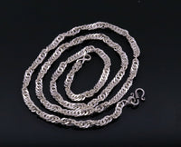 Solid sterling silver 26 inches long amazing rope chain necklace excellent gifting jewelry from Rajasthan india ch65