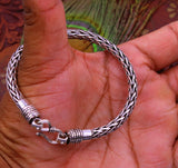 925 sterling silver handmade vintage antique style fox tail design solid silver jewelry, oxidized bracelet jewelry for unisex sbr127