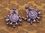 925 sterling silver handmade fabulous Lord Ganesha stud earring dangle, vintage antique design tribal jhumki belly dance jewelry s758