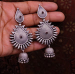 925 sterling silver handmade fabulous design large stud earring, drop dangle , oxidized tribal jewelry ethnic bolo indian jewelry s777