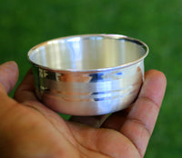 Plain design handmade 999 solid silver bowl, silver vessels, silver utensils, solid silve baby bowl for medical use for health sv07