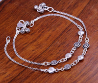 925 sterling silver handmade best gift for girl's bridesmaid gifting, excellent charm bracelet anklets, feet bracelet ankle jewelry ank93
