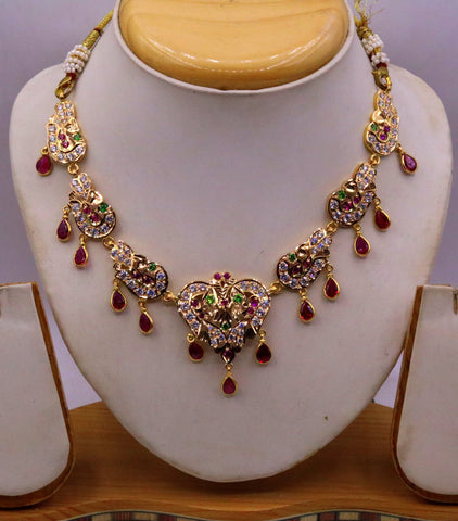 22 karat yellow gold Vintage traditional stylish Necklace indian gold jewellery from rajasthan and punjab india