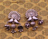 925 sterling silver traditional design modern heavy trendy look light weight Stud earring, kundal , tribal jhumki belly dance jewelry s755