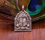 925 sterling silver handcrafted Goddess Shri Laxmi Charan Paduka design pendant, boho pendant, light weight necklace tribal jewelry nsp310