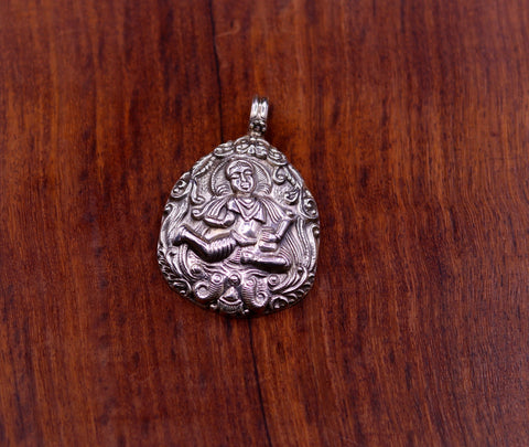 925 Sterling silver handmade  god deity Bhairwa Pendant ,excellent temple pendant trendy necklace tribal ethnic jewelry from india nsp325