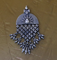 925 sterling silver Lord Ganesha pendant with attractive hanging drops, oxidized custom made bridesmaid gifting pendant necklace nsp332