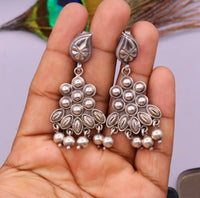 925 Pure silver stud earring unique vintage handmade design drop dangle earring ethnic tribal earring modern trend stylish jewelry  s818
