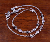 925 sterling silver handmade fabulous 10.5 inches long charm anklets, foot bracelet, belly dance jewelry bridesmaids ankle bracelet ank96