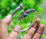 Amazing design Handcrafted 925 sterling silver bangle bracelet kada excellent Lord shiva trident customized jewelry,gifting unisex nsk240