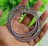 Vintage antique design handmade 925 sterling silver bangle bracelet fabulous oxidized belly dance jewelry kangan set tribal jewelry ba63