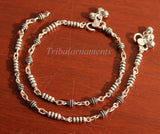 "10.5"" 925 sterling silver beaded ankle bracelet amazing stylish belly dance anklets gorgeous gifting custom made ankle bracelet ank175"