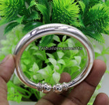 925 sterling silver handmade plain shine bright bangle bracelet kada excellent personalized gifting custom made unisex jewelry  nsk243