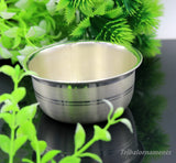999 pure sterling silver handmade solid silver bowl and spoon, silver has antibacterial properties, keep stay healthy, silver vessels sv23