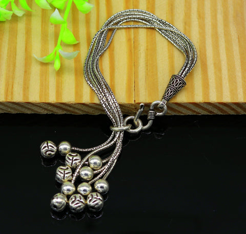 925 sterling silver handmade gorgeous charm bracelet, excellent multi chain customized adjustable jewelry bridesmaid gift jewelry nsbr20