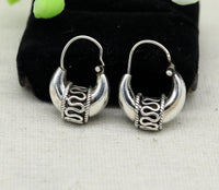 925 sterling silver handmade hoops stud earring bali, excellent customized stylish belly dance personalized gift tribal ethnic jewelry ske15