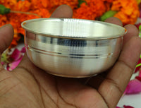 999 pure sterling silver handmade solid silver bowl kitchen utensils, vessels, silver has antibacterial properties, keep stay healthy sv53
