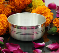 999 pure sterling silver handmade solid silver bowl kitchen utensils, vessels, silver has antibacterial properties, keep stay healthy sv55