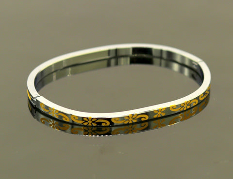 Solid sterling silver gorgeous bangle bracelet kada ,excellent customized gold polished silver personalized unisex gifting jewelry nssk220