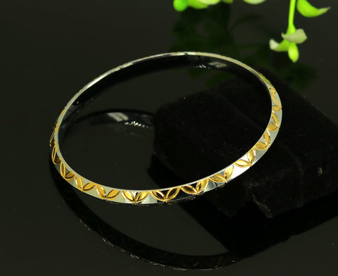 Punjabi Sikh solid silver gold polished bangle bracelet kada, amazing customized design personalized gift jewelry tribal india nssk247