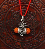 925 sterling silver lord shiva trident pendant, amazing customized Rudraksha oxidized tribal belly dance personalized jewelry ssp318