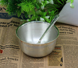 999 solid pure silver handmade utensils bowl and spoon, table serving bowl, silver vessel, baby feeding, kitchen baby set healthy art sv90