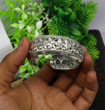 925 sterling silver customized flower design adjustable gifting bangle cuff bracelet vintage tribal ethnic personalized jewelry cuff15