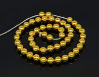 10 pieces 22kt yellow gold handmade 7 mm beads, loose beads, jewelry findings for customize jewelry, excellent wax beads findings from india