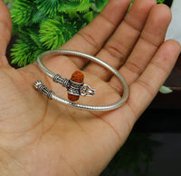 925 sterling silver Idol Lord Shiva trident trishool kada bangle bracelet New fancy design top class gifting jewelry nssk325