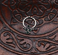 925 fine silver septum ring, septum nose ring, non piercing clip on nose ring, excellent delicate customized tribal Indian nose ring sptm23