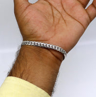 "8"" long 925 fine sterling silver fabulous handcrafted customized work unique stylish unisex bracelet special gifting jewelry India nsbr259"