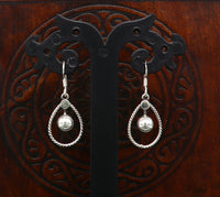 Pure 925 sterling silver customized drop dangle design fabulous hoops earring, best girl's gifting charm earring jewelry from India ear732