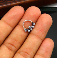 925 fine silver septum ring, septum nose ring, non piercing clip on nose ring, excellent delicate customized tribal Indian nose ring sptm22