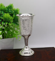925 fine silver handmade vessel, water/milk wine Glass tumbler, silver flask, silver utensils or articles stay healthy from bacteria sv35