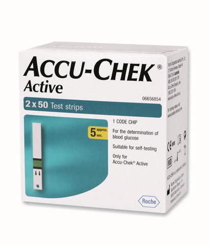 ACCU-CHEK  ACTIVE-100 STRIPS