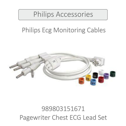PHILIPS ECG CHEST LEAD SET (BOTH AAMI & IEC) - TC30 (989803151671) - Scorpiamedimart