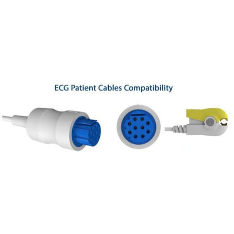 One piece ECG cable, 3 lead, grabber patient End, IEC color code ( E200-3010/GI ) - Scorpiamedimart