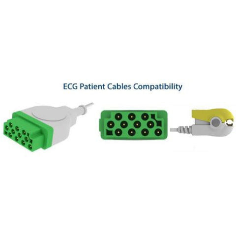 COMPATIBLE GRABBER PATIENT END 5 LEAD ECG CABLE E-200-5060/GI - Scorpiamedimart