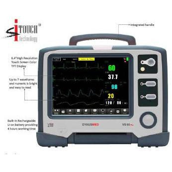 DYAUSMED VS60 VITAL SIGN NEONATE MONITOR ( ECG,RESP,HR,MASIMO SpO NIBP,TEMP) - Scorpiamedimart
