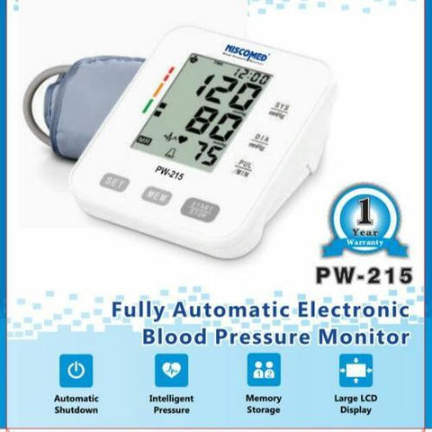 NISCOMED DIGITAL BLOOD PRESSURE MONITOR PW-215 - Scorpiamedimart