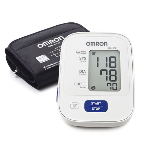 OMRON AUTOMATIC BLOOD PRESSURE MONITOR HEM-7121 WITH ADAPTOR - Scorpiamedimart