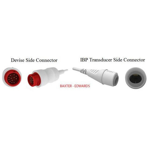 COMPATIBLE IBP ADAPTOR CABLE BAXTER-EDWARDS IBP-03/007 - Scorpiamedimart