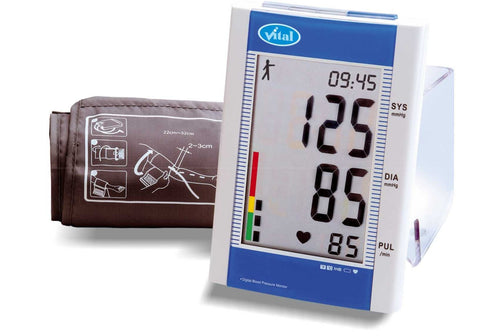VITAL HEALTHCARE AUTO BLOOD PRESSURE MONITOR WITH BATTERY LD-582 - Scorpiamedimart