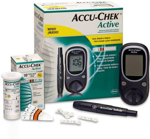 ACCU-CHEK ACTIVE- BGM KIT WITH 10 STRIPS