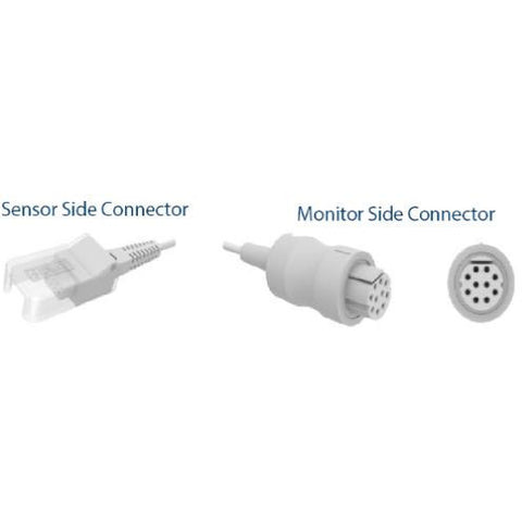 SpO2 Adapter & Extension Cable, Datex Sensor, GE - Datex - Scorpiamedimart