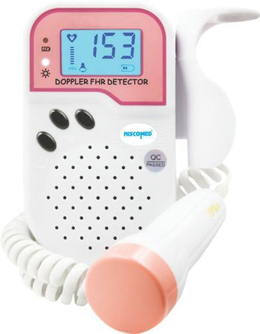 NISCOMED FETAL DOPPLER (WITH RECHARGEABLE BATTERY & CHARGER) ND104 - Scorpiamedimart
