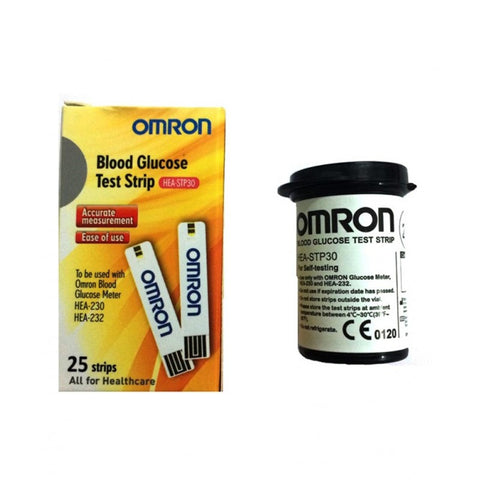 BLOOD GLUCOSE TEST STRIPS HEA-STP30-AP-25 (OMRON)