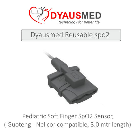 COMPATIBLE PEDIATRIC SOFT FINGER SPO2 SENSOR - Scorpiamedimart